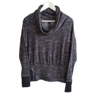 90 degree marled gray athletic top